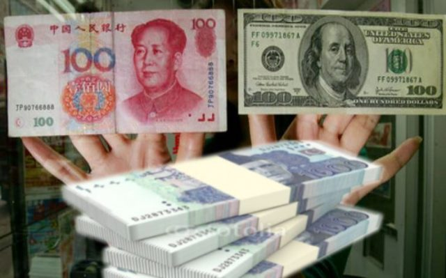dollar with yuan