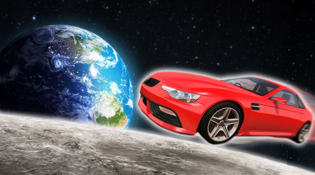 car into space