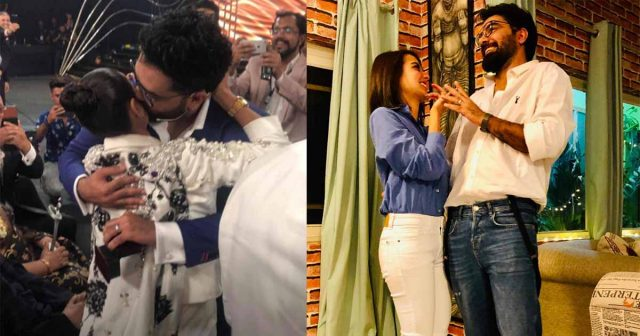 Yasir Hussain proposes to Iqra Aziz at Lux Style Awards -