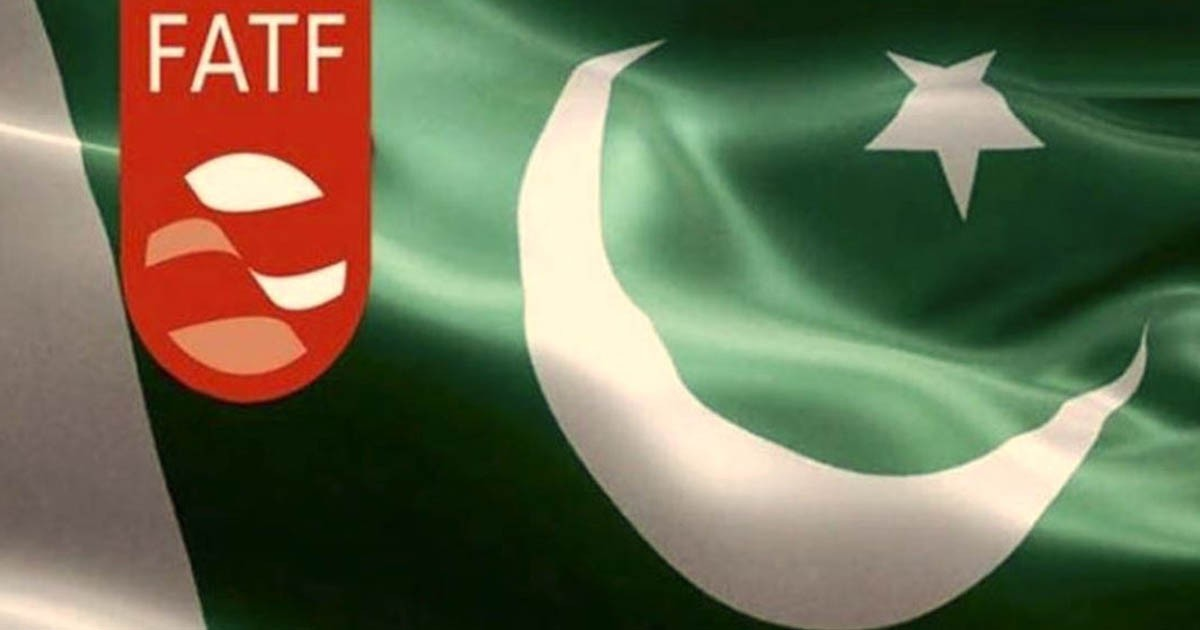 FATF logo on Pakistan flag; plenary