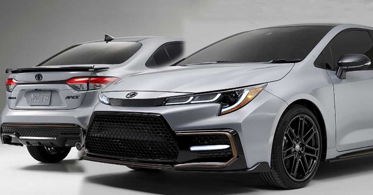 toyota launches brand new 'very sporty' 2021 corolla apex